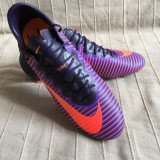 Ghete fotbal Nike Mercurial, Marime: 45, Culoare: Orange
