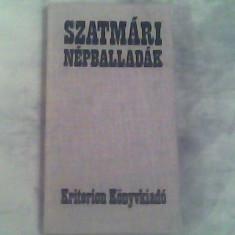Szatmari nepballadak (balade populare sin Satmar)-Bura Laszlo