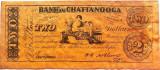 Reproducere Fidela a Bancnotei 2 Dolari - CHATTANOOGA, anul 1863 *cod 374
