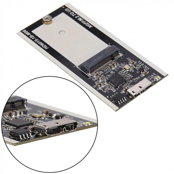 Adaptor B Key M.2 NGFF SSD la micro USB 3.0