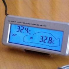 Termometru Auto - Temperatura interioara / exterioara - Ecran colorat