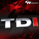Accesoriu auto TDI  metal  cu adeziv inclus sticker VW Volkswagen Golf Polo etc