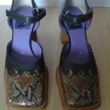 pantofi  piele femei cu bareta