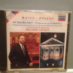 RAVEL/MUSSORGSKY -BOLERO/PICTURES(1987/DECCA/Germany) - CD Original/Sigilat/Nou