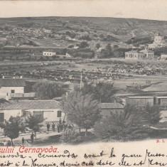 VEDEREA ORASULUI CERNAVODA CLASICA EDITURA H. I. FARMACHI CERNAVODA CIRCULATA - Carte Postala Dobrogea pana la 1904, Printata