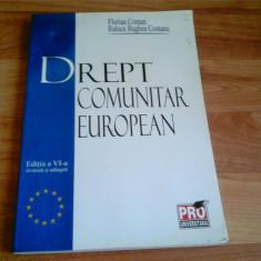 DREPT COMUNITAR EUROPEAN -FLORIAN COMAN -RALUCA BURGHEA CONTANU - Carte Drept comunitar
