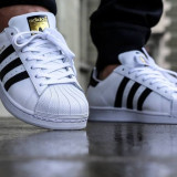 Adidasi Adidas Superstar unisex - Adidasi barbati, Marime: 36, 37, 38, 39, 40, 41, 42, 43, 44, Culoare: Din imagine, Piele sintetica