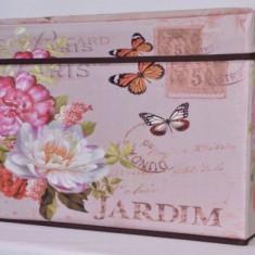 Taburet pliabil mare Paris - cutie de depozitare