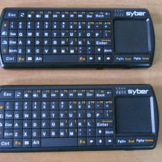2 x Mini Tastatura Wireless IPKW250FUSK fara receiver., Fara fir, Tastatura iluminata