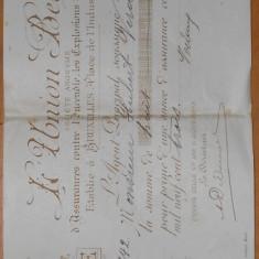 ASIGURARE L'UNION BELGE ANII 1930
