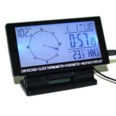 Busola digitala auto cu termometru, ceas si calendar - Termometru Auto