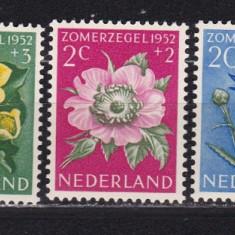 Olanda 1952 flori MI 588-592 MNH w40 - Timbre straine, Nestampilat
