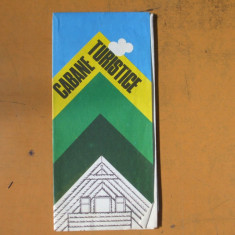 Romania cabane turistice harta color turistica 1982