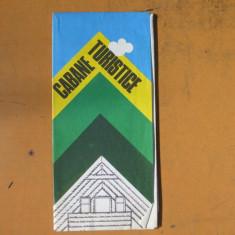 Romania cabane turistice harta color turistica 1982 - Harta Romaniei