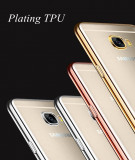 Husa Silicon / TPU cu margini metalizate Samsung Galaxy S6 edge plus