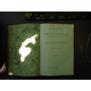 Revista de drept public anul V 1930 - Paul Negulescu