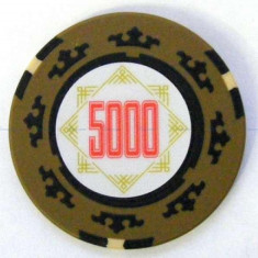 Jeton poker, 5000 Cartamundi 14 g in limita stocului disponibil! - Poker chips