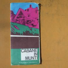Romania cabane in munti harta color turistica - Harta Romaniei