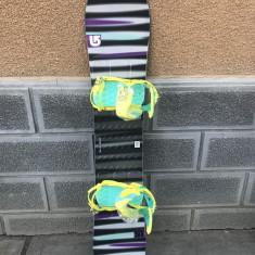 Placa snowboard BURTON LTR 148cm (2014) cu legaturi noi Salomon - Placi snowboard