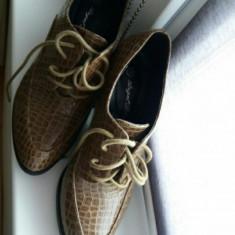 Vand pantofi/saboti dama piele ecologica tip croco tip Zara, HM, berska, mas.38 - Sabot dama, Culoare: Din imagine