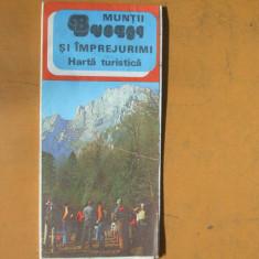 Bucegi si imprejurimi harta color turistica 1985 - Harta Romaniei
