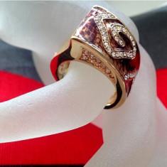 Inel GUESS -marimea 8, 18 mm  - placat cu aur 18K si cristale swrovski
