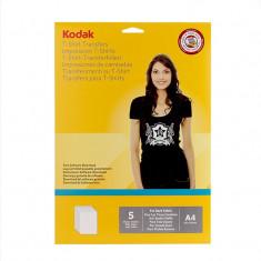 Hartie transfer termic Kodak A4, pentru tricouri negre - Hartie foto imprimanta