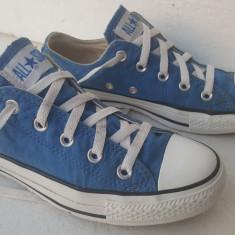 Tenisi Converse All Star nr 36, 5 - Tenisi dama Converse, Culoare: Albastru, Textil