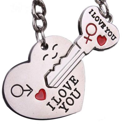 BRELOC accesorii CUPLU indragostiti  I Love You  INIMA CU CHEIE cheita LACAT BFF foto