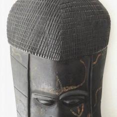 Masca africana din abanos - Sculptura, Masti, Lemn