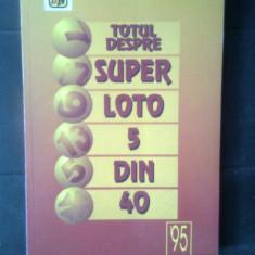 "Totul despre Super loto 5 din 40 (Regia Autonoma ""Loteria Nationala"", 1995)"