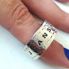 Inel barbati JEANS VERIGHETA placat cu aur 18k - vintage marimea 7, 17mm/55mm