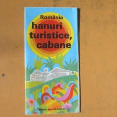 Romania hanuri turistice si cabane harta color turistica 1978 - Harta Romaniei