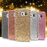 Husa silicon PREMIUM cu sclipici / glitter pentru Samsung Galaxy S7 / S7 edge, Samsung Galaxy S7 Edge, Auriu