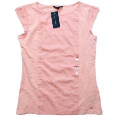 Tricou TOMMY HILFIGER - Tricouri Dama, Femei - 100% AUTENTIC - Tricou dama Tommy Hilfiger, Marime: S, Culoare: Piersica, Simplu, Fara maneca, Casual