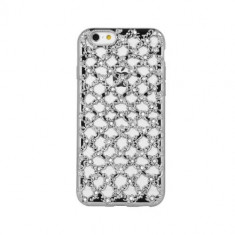 Husa Samsung J3 2016 Flower Diamond Silver - Husa Telefon, Gel TPU