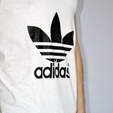 Maiou tricou Adidas masura S M - Tricou barbati Adidas, Marime: S, Culoare: Alb, Fara maneca, Bumbac