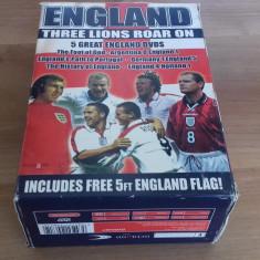 Eangland - Three lions roar on - Fotbal - 5 DVD [A, Sigilat] - Film documentare, Engleza