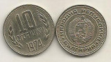 BULGARIA  10  STOTINKI  STOTINCI  1974   [01]  VF, Europa, Cupru-Nichel