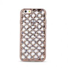Husa Samsung J3 2016 Flower Diamond RoseGold - Husa Telefon, Gel TPU