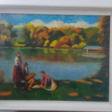 Tablou Vechi Semnat Balla Bela Reducere - Pictor roman, Scene gen, Ulei, Impresionism