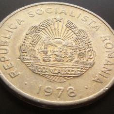 Moneda 5 Lei - ROMANIA, anul 1978 *cod 5016 ALUMINIU - Moneda Romania