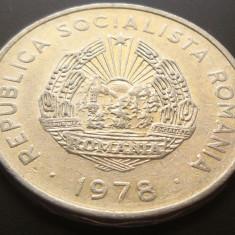 Moneda 5 Lei - ROMANIA, anul 1978 *cod 5015 ALUMINIU - Moneda Romania