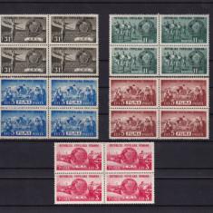 ROMANIA 1950, LP 273, GMA SI FGMA BLOCURI DE 4 TIMBRE MNH - Timbre Romania, Nestampilat