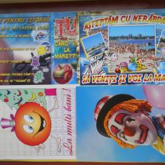 HOPCT 31050 CARTI POSTALE AMUZANTE DE LA MARE...SET 5 CP-NECIRCULATE