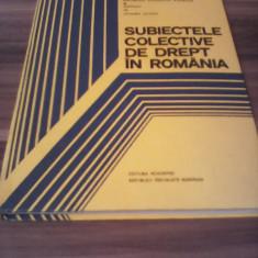 SUBIECTELE COLECTIVE DE DREPT IN ROMANIA-YOLANDA EMINESCU 1981