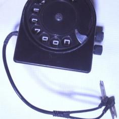 adaptor disc telefon f.rar militar anii 70 vechi armata  bachelita cu husa