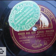 Marek Weber si orchestra sa disc patefon gramofon v foto! - Muzica Clasica, Alte tipuri suport muzica