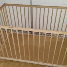 Patut ikea - Patut lemn pentru bebelusi, 120x60cm, Altele