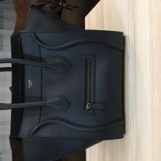 Geanta Celine Mini Luggage Tote- Originala pret intreg magazin 2660 euro - Geanta Dama Celine, Culoare: Albastru, Marime: Medie